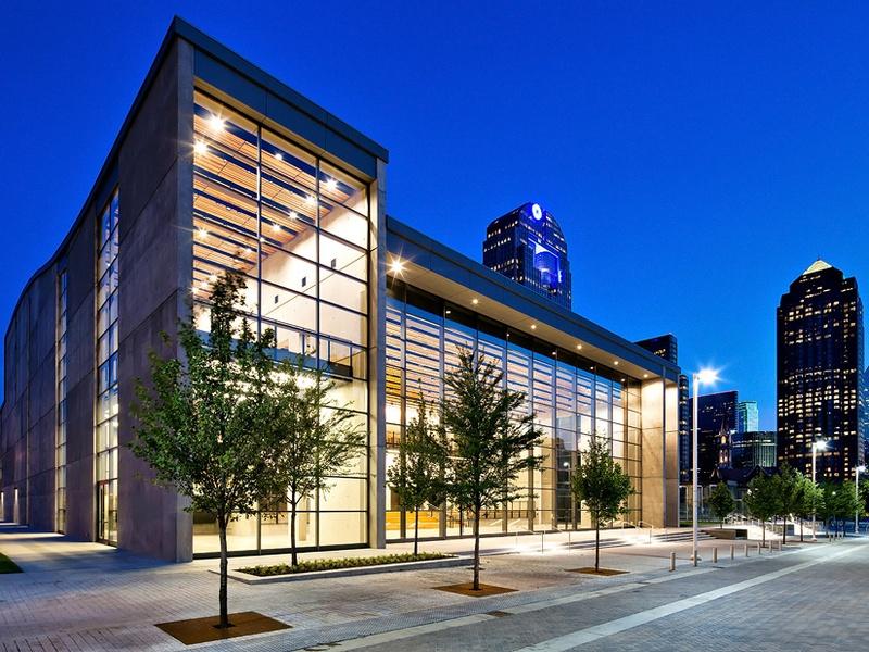 Dallas City Performance Hall LEED Platinum at Night