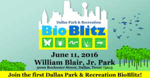 Bio Blitz at William Blair, Jr. Park @ William Blair, Jr. Park | Dallas | Texas | United States