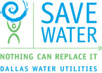 Save Dallas Water Logo, Nothing Can Replace It, Dallas Water Utilities, Water Conservation Program, City of Dallas