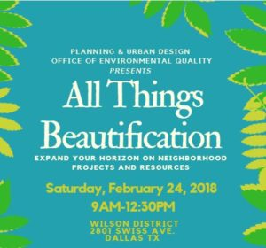 All Things Beautification @ Meadows Foundation | Dallas | Texas | United States