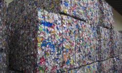 bundles of crushed aluminum cans Dallas MERF