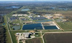 Dallas Water Utilities Southside Wastewater Treatment Plant aerial photo