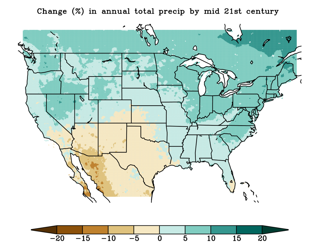 total rainfall graph of the united states