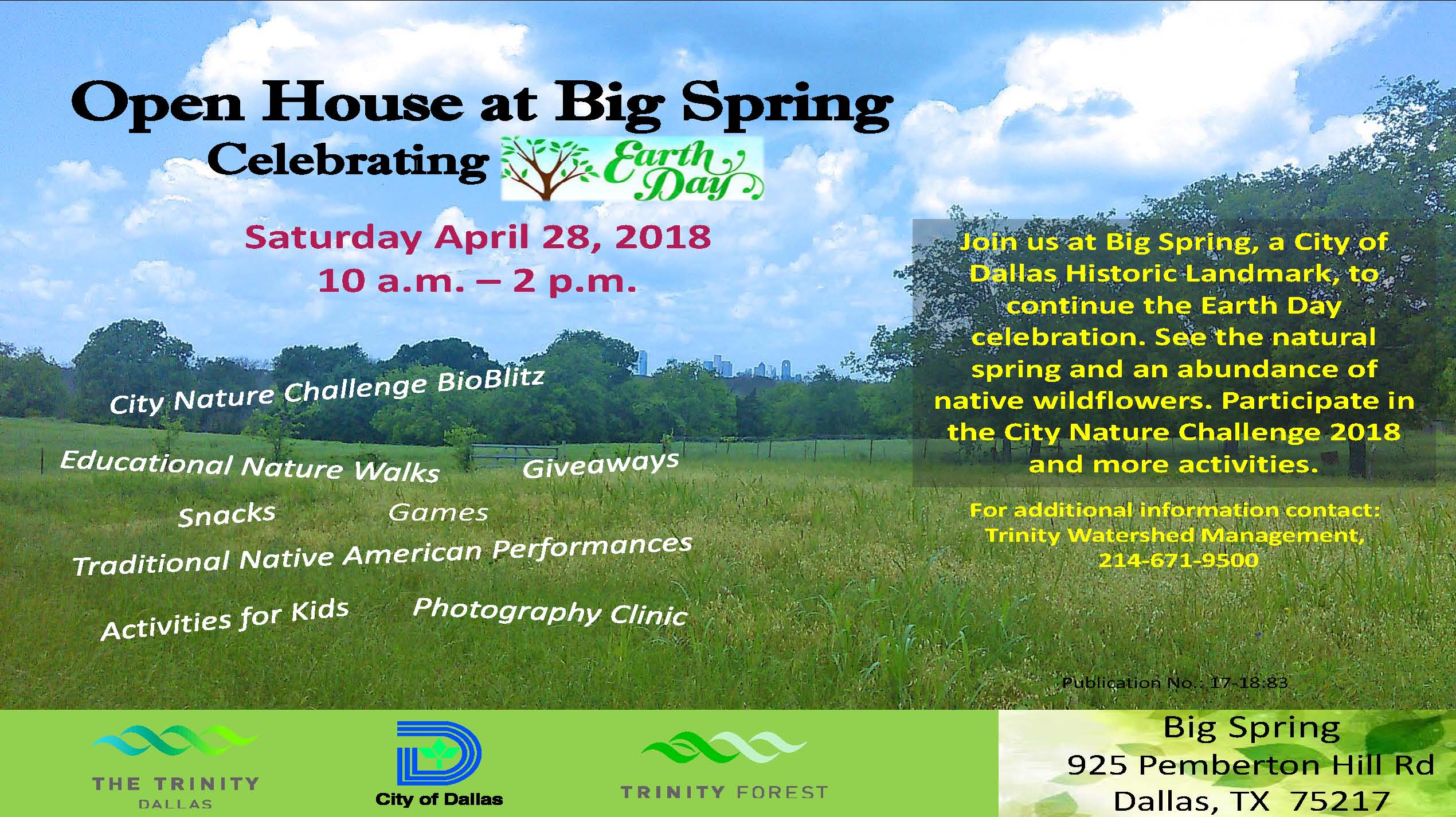 Big Spring, wildflowers, City of Dallas, Trinity WaterShed Management
