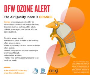 orange ozone alert