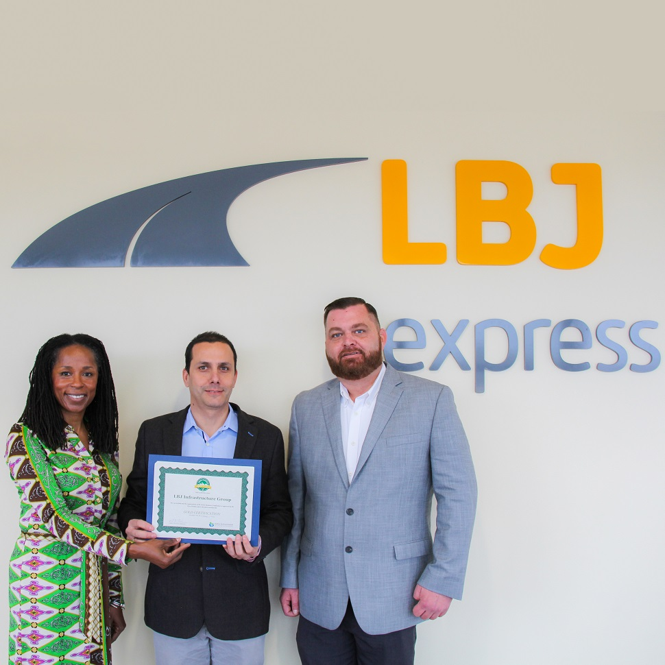 LBJ express, city of dallas green business certification