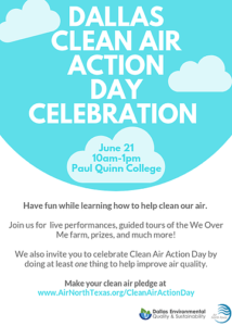 clean air action day, CAAD, paul quinn college, air quality, clean air