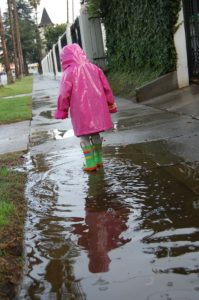 rain, stormwater, puddle, sidewalk