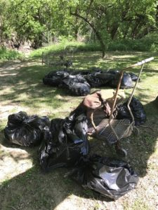blog photo of bags of litter collected