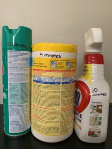 blog [photo of store bought cleaners