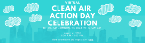 homepage banner about Clean Air Action Day on Aug 4, 2020