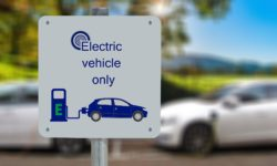 photo of sign for electric car charging