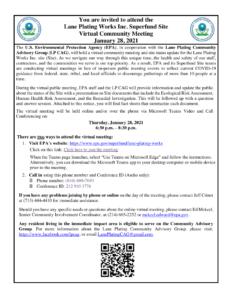 Lane plating community meeting Jan 28 2021